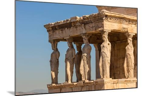 Athens, Attica, Greece. Porch of the Caryatids on the south end of the Erechtheion on the Acropo...--Mounted Photographic Print