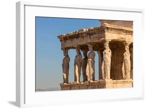 Athens, Attica, Greece. Porch of the Caryatids on the south end of the Erechtheion on the Acropo...--Framed Art Print