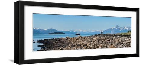 Low tide walk at beach, Southeast Alaska, Alaska, USA--Framed Art Print