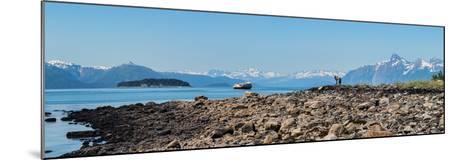 Low tide walk at beach, Southeast Alaska, Alaska, USA--Mounted Photographic Print