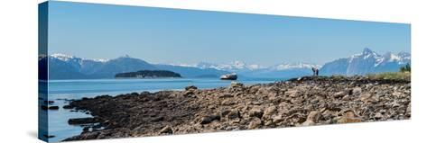 Low tide walk at beach, Southeast Alaska, Alaska, USA--Stretched Canvas Print