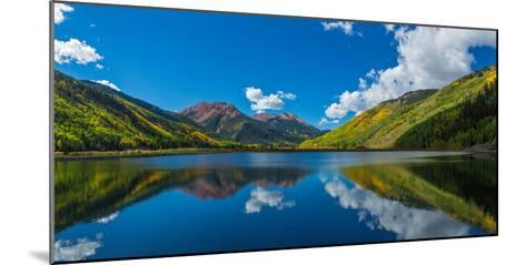 Reflection of clouds and mountain in Crystal Lakes, U.S. Route 550, Colorado, USA--Mounted Photographic Print