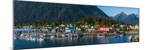 City with mountains in the background, Sitka, Southeast Alaska, Alaska, USA--Mounted Photographic Print