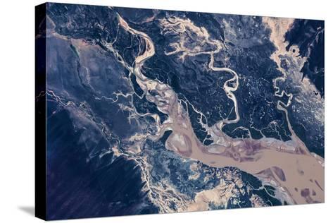 Satellite view of estuary, Camballin, Western Australia, Australia--Stretched Canvas Print