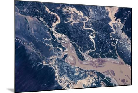 Satellite view of estuary, Camballin, Western Australia, Australia--Mounted Photographic Print