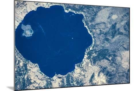 Satellite view of Crater Lake, Oregon, USA--Mounted Photographic Print