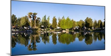 Terrible's Lakeside Casino RV Park reflected in lake in Pahrump, Nye County, Nevada, USA--Mounted Photographic Print