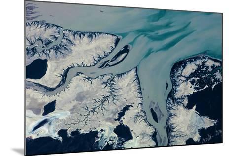 Satellite view of Prince Regent River, Western Australia, Australia--Mounted Photographic Print