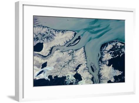 Satellite view of Prince Regent River, Western Australia, Australia--Framed Art Print