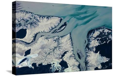 Satellite view of Prince Regent River, Western Australia, Australia--Stretched Canvas Print