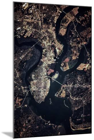 Night time satellite image of Charleston, South Carolina, USA--Mounted Photographic Print