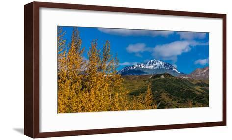 Lookout view of Glacier and Mountains off Richardson Highway, Route 4, Alaska--Framed Art Print