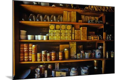 Interior of General Store with goods on shelves in Ghost Town near Virginia City, MT--Mounted Photographic Print