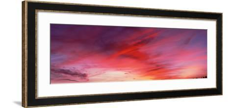 Low angle view of majestic clouds in sky, Santa Barbara, California, USA--Framed Art Print