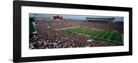 High angle view of a football stadium, Soldier Field, Chicago, Illinois, USA--Framed Art Print