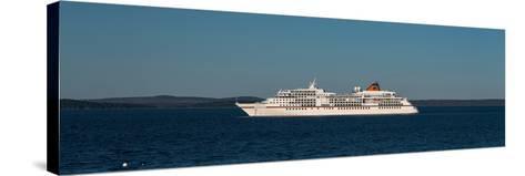 Cruise ship in Atlantic ocean, Bar Harbor, Mount Desert Island, Hancock County, Maine, USA--Stretched Canvas Print
