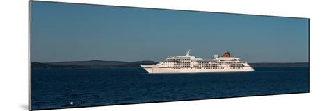 Cruise ship in Atlantic ocean, Bar Harbor, Mount Desert Island, Hancock County, Maine, USA--Mounted Photographic Print