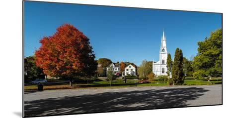 View of church in town, Bath, Sagadahoc County, Maine, USA--Mounted Photographic Print