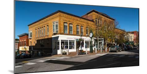 Buildings along a street, Bath, Sagadahoc County, Maine, USA--Mounted Photographic Print