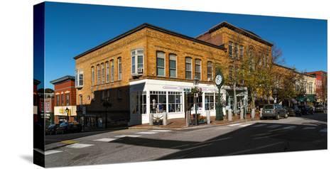 Buildings along a street, Bath, Sagadahoc County, Maine, USA--Stretched Canvas Print