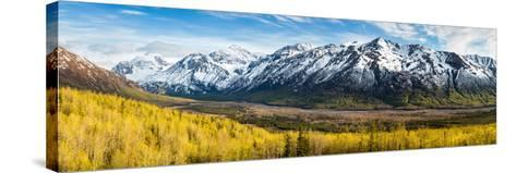 Eagle River Valley with Hurdygurdy Mountain in the background, Chugach National Park, Alaska, USA--Stretched Canvas Print