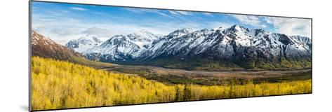 Eagle River Valley with Hurdygurdy Mountain in the background, Chugach National Park, Alaska, USA--Mounted Photographic Print