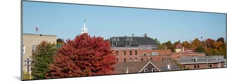View of buildings with trees in autumn, Bath, Sagadahoc County, Maine, USA--Mounted Photographic Print