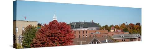 View of buildings with trees in autumn, Bath, Sagadahoc County, Maine, USA--Stretched Canvas Print