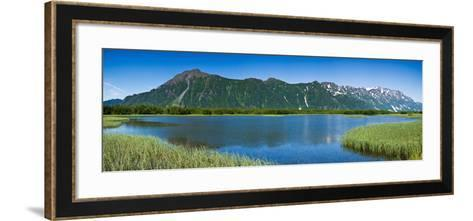 Chugach Mountains at Prince William Sound, Copper River, Alaska, USA--Framed Art Print