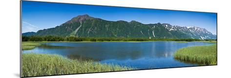 Chugach Mountains at Prince William Sound, Copper River, Alaska, USA--Mounted Photographic Print