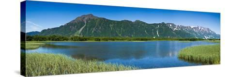 Chugach Mountains at Prince William Sound, Copper River, Alaska, USA--Stretched Canvas Print