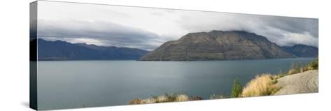 Clouds over Cecil Peak seen from Glenorchy-Queenstown Road, Lake Wakatipu, Otago Region, South I...--Stretched Canvas Print