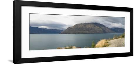 Clouds over Cecil Peak seen from Glenorchy-Queenstown Road, Lake Wakatipu, Otago Region, South I...--Framed Art Print