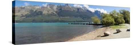 Pier at Glenorchy, Lake Wakatipu, Otago Region, South Island, New Zealand--Stretched Canvas Print