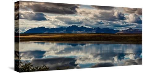 Denali Highway, Route 8, offers views of Mt.Deborah, Mnt. Hess Mountain, & Mt. Hayes Alaska, Alaska--Stretched Canvas Print