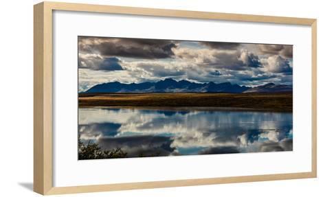 Denali Highway, Route 8, offers views of Mt.Deborah, Mnt. Hess Mountain, & Mt. Hayes Alaska, Alaska--Framed Art Print