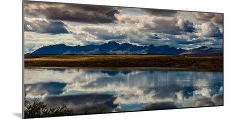 Denali Highway, Route 8, offers views of Mt.Deborah, Mnt. Hess Mountain, & Mt. Hayes Alaska, Alaska--Mounted Photographic Print