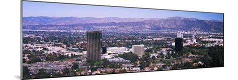 Aerial view of 10 Universal City Plaza in city, Los Angeles, California, USA--Mounted Photographic Print