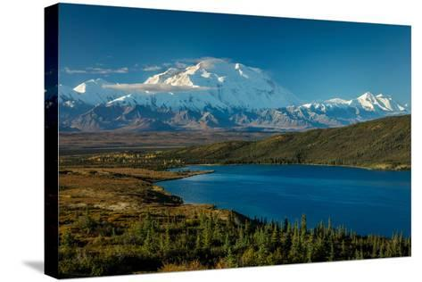 Mount Denali, previously known as McKinley from Wonder Lake, Denali National Park, Alaska--Stretched Canvas Print