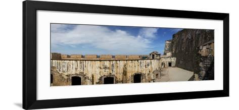 Ruins of Castillo San Felipe Del Morro, Old San Juan, San Juan, Puerto Rico, USA--Framed Art Print