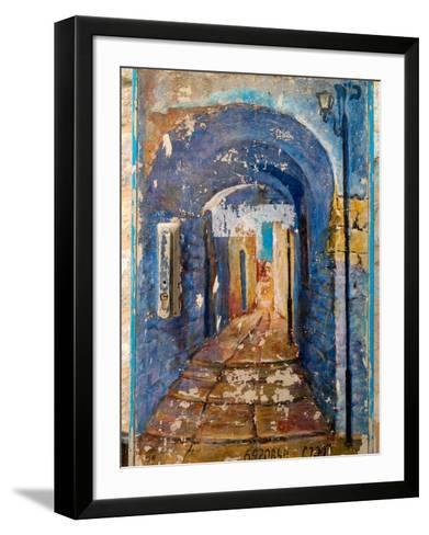 Paintings of a building, Hod HaSharon, Israel--Framed Art Print