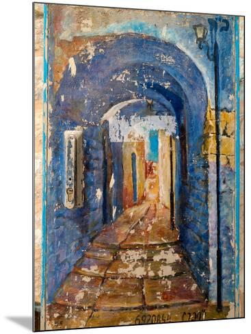 Paintings of a building, Hod HaSharon, Israel--Mounted Photographic Print