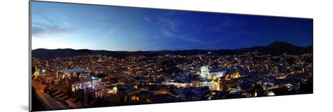 Elevated view of cityscape at sunset, Guanajuato, Mexico--Mounted Photographic Print