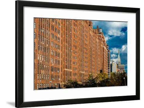 Brick Apartment Buildings New York City--Framed Art Print