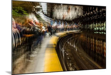 Commuters in NYC subway system--Mounted Photographic Print
