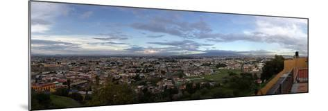 Eleated view of cityscape, Cholula, Puebla State, Mexico--Mounted Photographic Print