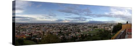 Eleated view of cityscape, Cholula, Puebla State, Mexico--Stretched Canvas Print