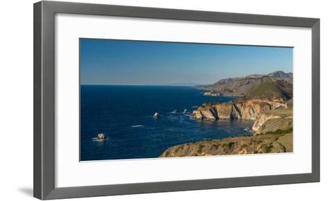 Scenic view of Bixby Creek Bridge at Pacific Coast, Big Sur, California, USA--Framed Art Print