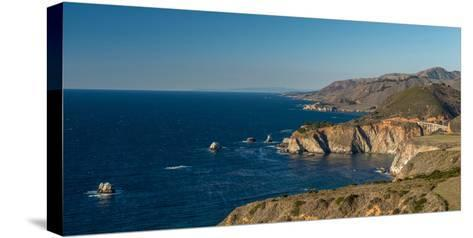 Scenic view of Bixby Creek Bridge at Pacific Coast, Big Sur, California, USA--Stretched Canvas Print