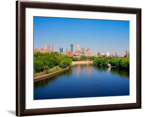 Minneapolis and the Mississippi River--Framed Art Print